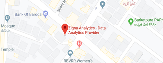 Zigna Analytics, Contacts and Addresses, Timely Project Deliverable, India Map Location.